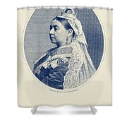 Queen Victoria Engraving - Her Majesty The Queen Shower Curtain