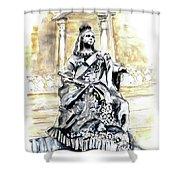 Queen Victoria In Valletta Shower Curtain