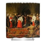Queen Victoria Opening  Shower Curtain