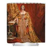Queen Victoria Taking The Coronation Oath 28 June 1838 Shower Curtain
