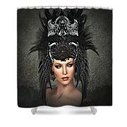 Queens Headress Shower Curtain