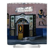 Queen's Hotel Habou Egypt Shower Curtain
