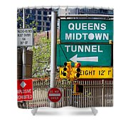 Queens Midtown Tunnel Shower Curtain