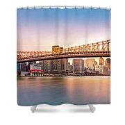 Queensboro Bridge At Sunset Shower Curtain