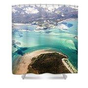 Queensland Island Bay Landscape Shower Curtain