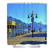 Queenstown's Majestic Mountains Shower Curtain