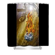 Quenching Fire Shower Curtain