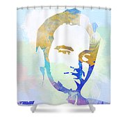 Quentin Tarantino Shower Curtain by Naxart Studio
