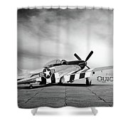 Quick Silver P-51 Shower Curtain