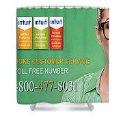 Quickbooks Customer Service Number  Shower Curtain