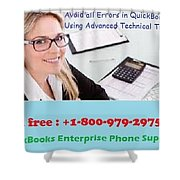 Quickbooks Enterprise Support To Help You Use A Flawless Accounting Program Shower Curtain