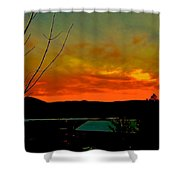 Quicksilver Sunset Shower Curtain