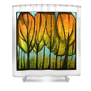 Quiet Blaze Shower Curtain