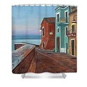 Quiet Sicilian Town Shower Curtain