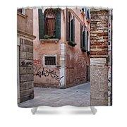 Quiet Corner In Venice Shower Curtain