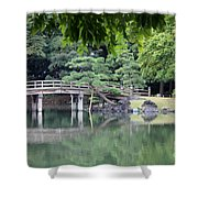 Quiet Day In Tokyo Park Shower Curtain