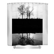 Quiet Day Shower Curtain