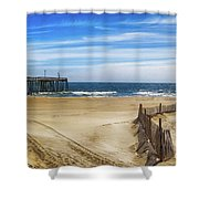 Quiet Day On The Beach Shower Curtain
