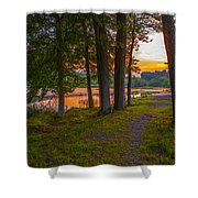 Quiet Evening, Pocono Shower Curtain