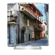 Quiet In Almenno San Salvatore Shower Curtain