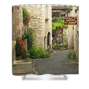 Quiet Lane In St Cirq I France Shower Curtain