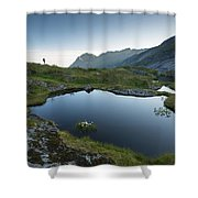 Quiet Lofoten Shower Curtain