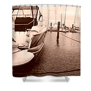 Quiet Marina Shower Curtain