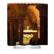 Quiet Prayers Shower Curtain