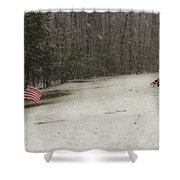 Quiet Remembrance Quantico National Cemetery Shower Curtain