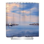 Quiet Sea Shower Curtain