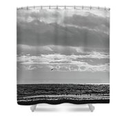 Quiet Shores After The Storm Shower Curtain