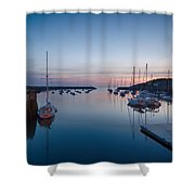 Quiet Solitude Rockport Harbor Shower Curtain
