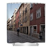 Quiet Street In Rovinj - Croatia Shower Curtain