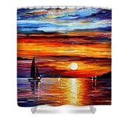 Quiet Sunset Shower Curtain