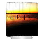 Quiet Time At Lake Mary  Shower Curtain