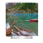 Moraine Lake I, Alberta Shower Curtain