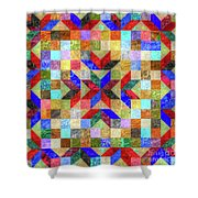 Quilt Pattern No. 1 Shower Curtain