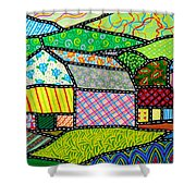 Quilted Bath County Barn Shower Curtain