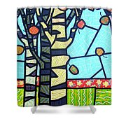 Quilted Birch Garden Shower Curtain