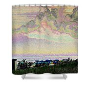 Quilted Cloud Shower Curtain