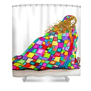 Quilted Dreams Shower Curtain