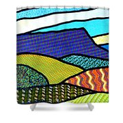 Quilted Mountain Peak Shower Curtain