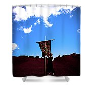 Quilted Sky  Shower Curtain