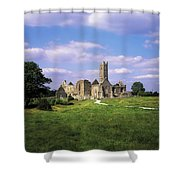 Quin Abbey, Quin, Co Clare, Ireland Shower Curtain