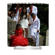 People Series - Quinceanera Ceremony  Shower Curtain