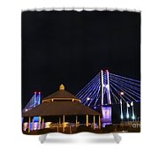 Quincy Bay View At Night Shower Curtain