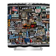 Quincy, Il Collage Shower Curtain