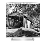 Quinlan Bridge Shower Curtain by Deborah Benoit