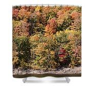 Quinnipiac River Color Shower Curtain