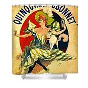 Quinquina Dubonnet Aperitif 1895 Shower Curtain